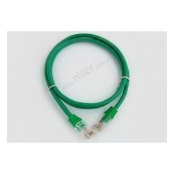 Patch cord UTP CCA 1,0m zielony