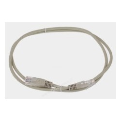Patch cord UTP CCA 1,5m szary RoHS