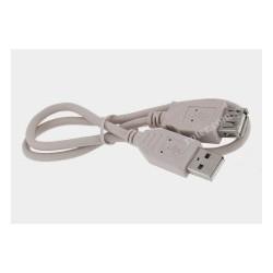 Przyłącze USB 2.0 wt.A/gn.A 0,5m szare