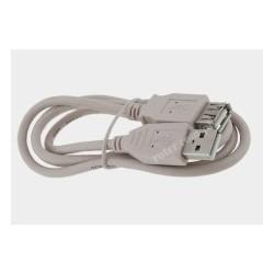 Przyłącze USB 2.0 wt.A/gn.A 1,0m szare