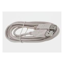 Przyłącze USB 2.0 wt.A/gn.A 3,0m szare