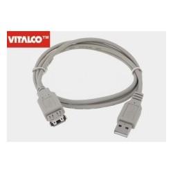 Przyłącze USB 2.0 wtyk A/gn.A 1,8m DSKU24 Vitalco