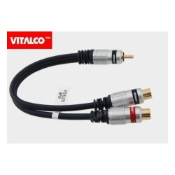 Adapter wtyk RCA / 2*gniazdo RCA przewód Vitalco RP10