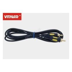 Przyłącze 1*wtyk RCA / 1*wtyk RCA RK138 łezka 1,5m Vitalco