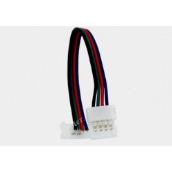 Konektor 1x zprzewodem 10mm do taśm RGB