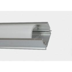 Profil LED TC-LS027 16.5mm/9.8mm/1m / klosz, 2 x uchwyt, 2 x zaślepka