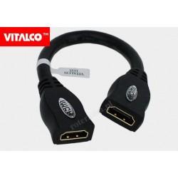 Adapter gn. HDMI/gn. HDMI z przewodem Vitalco