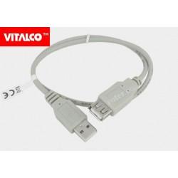 Przyłącze USB 2.0 wtyk A/gn.A 0,5m DSKU24 Vitalco
