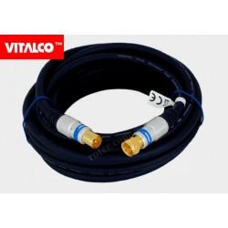 Przyłącze wtyk TV / wtyk F Vitalco 5,0m