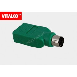 Adapter USB gniazdo A/wtyk PS2 Vitalco