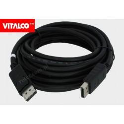 Przyłącze Display port 5,0m DP10 Vitalco