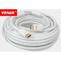 Przyłącze HDMI V1.4 Vitalco HDK31 złote, białe.17m