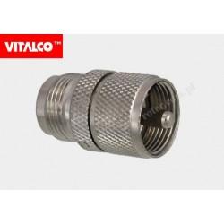 Adapter gniazdo N / wtyk UHF Vitalco EN361