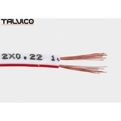 Przewód głośnikowy 2*0.22 biały z paskiem (szpula) Talvico Tg-231