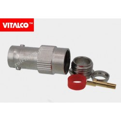 Gniazdo BNC skręcane na kabel BNG10 RG59 Vitalco