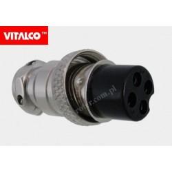 Gniazdo mikrof. CB 4p na kabel Vitalco