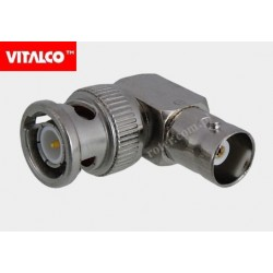 Adapter wtyk BNC/gniazdo BNC kątowy Vitalco BNR07