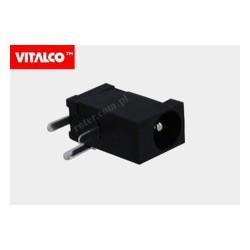 Gniazdo DC 1.3 / 4.00mm montażowe plastik Vitalco DCG08