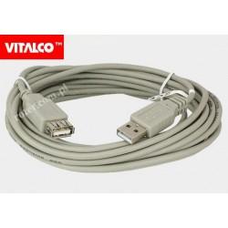 Przyłącze USB 2.0 wtyk A/gn.A 5,0m DSKU24 Vitalco