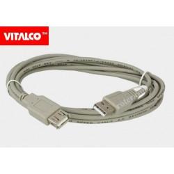 Przyłącze USB 2.0 wtyk A/gn.A 3,0m DSKU24 Vitalco