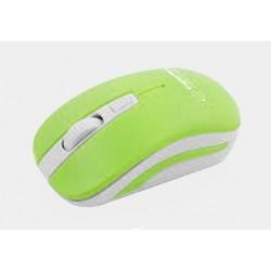 Mysz bezp. URANUS biało-zielona EM126WG