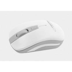 Mysz bezp. URANUS biało-szara EM126EW