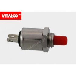 Przeł. przyciskowy okr. metal 5428 off-(on) PR017 czerwony Vitalco
