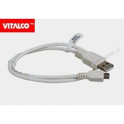 Przyłącze USB-mikro USB 0,5m białe DSF66 Vitalco