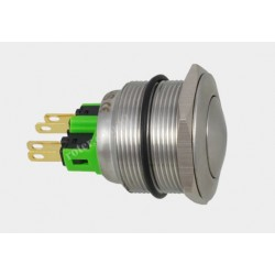 Przeł. okrągły 25mm 250V/2A off-on 4pin 25SB-11Z IP67