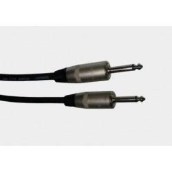 Kabel głośnikowy 2x2,5mm (2 * jack 6,3 mono) 1m