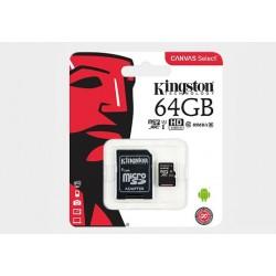 Karta pamięci mikroSD Kingston 64GB z adapterem