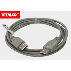 Przyłącze USB 2.0 wtyk A / wtyk A DSKU10 Vitalco 1,8m