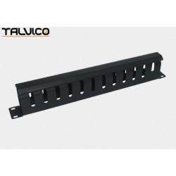 Organizer kabli krosowych z pokrywą metal. do szaf rack 19' 5S28 Talvico