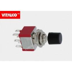 Przeł. przyciskowy 6pin on-on VS5433 czarny Vitalco PRV190