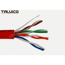 Przewód skrętka Talvico L-210 drut UTP CCA czerwony 305m