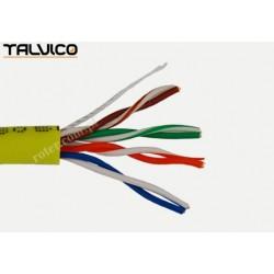 Przewód skrętka Talvico L-210 drut UTP CCA żółty 305m