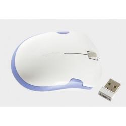 Mysz optyczna bezprzewodowa 2,4GHz 1200 dpi biało-niebieska