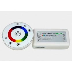 Sterownik LED RGB RF okrągły dotykowy biały