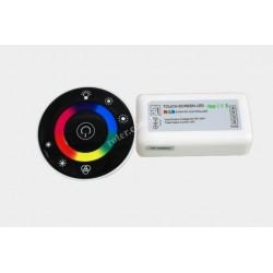 Sterownik LED RGB RF okrągły dotykowy czarny
