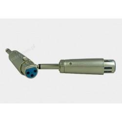 Adapter gniazdo XLR 3p / wtyk 6,3 mono