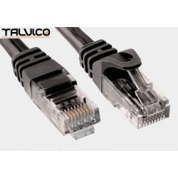 Patch cord UTP kat.6 0,25m czarny 6P10