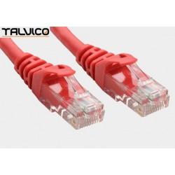Patch cord UTP kat.6 0,5m czerwony 6P10