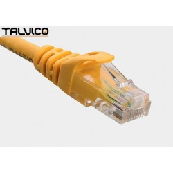 Patch cord UTP kat.6 0,5m żółty 6P10