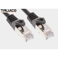 Patch cord FTP kat.5e CCA 0,5m czarny 5P45