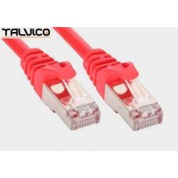 Patch cord FTP kat.5e CCA 0,5m czerwony 5P45