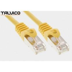 Patch cord FTP kat.5e CCA 1,0m żółty 5P45