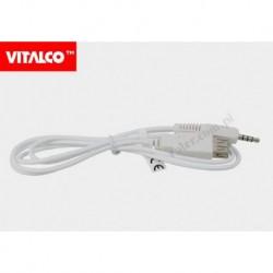 Przyłącze gniazdo USB/wtyk 3,5 4-polowy 2,5m DSKU78 Vitalco