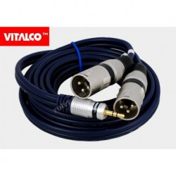 Przyłącze 2x wtyk XLR/wtyk 3.5 stereo 3,0m MK32/B (mikser) Vitalco