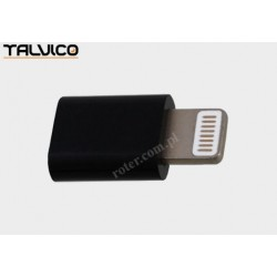 Adapter wtyk iPhone/gniazdo mikro USB Talvico