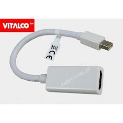 Adapter wt. mini DisplayPort/gn. HDMI przewód HDA603 Vitalco